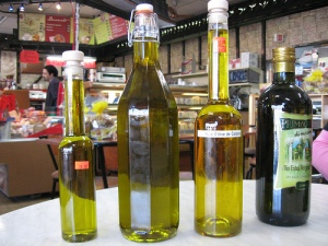 Olive oil for sale at La Maison du Parmesan